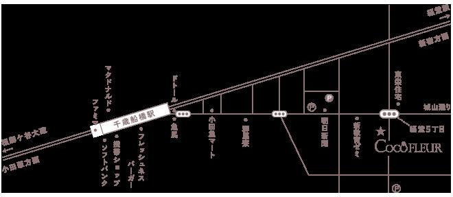 CocoFLEUR スタジオ地図